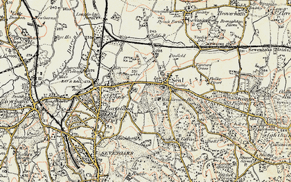 Old map of Seal in 1897-1898
