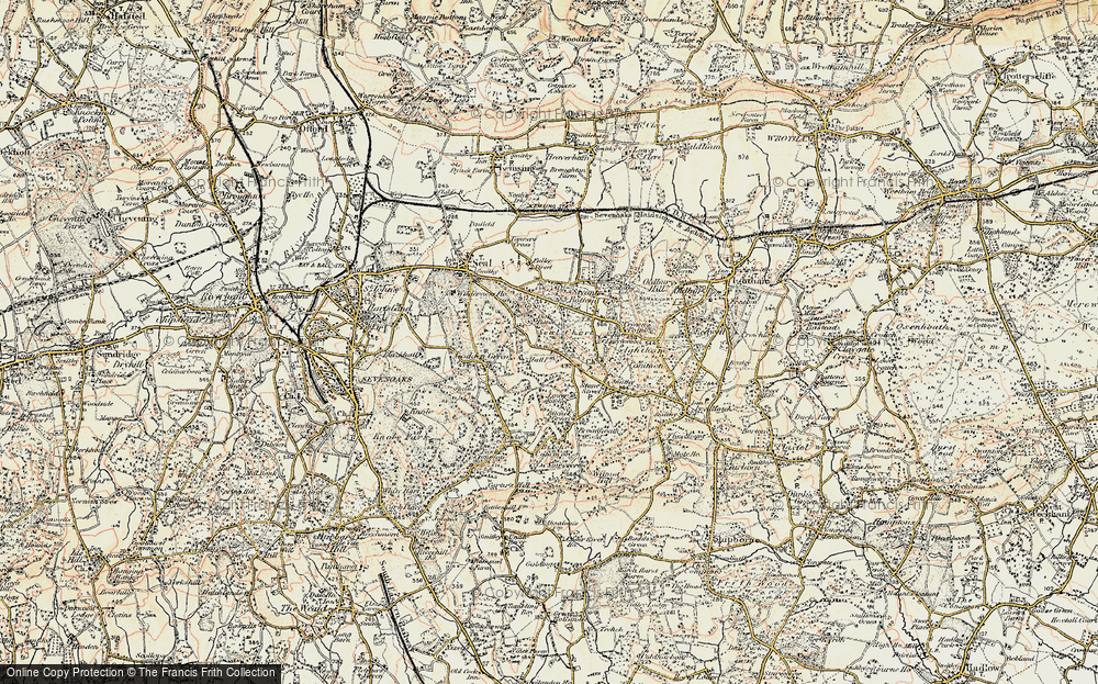 Old Map of Seal Chart, 1897-1898 in 1897-1898