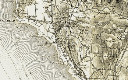 Old map of Limpet Craig in 1905-1906