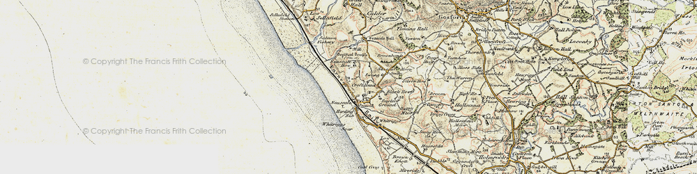Old map of Whitriggs in 1903-1904