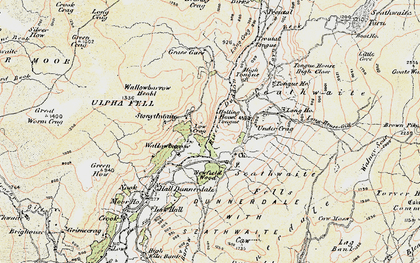 Old map of Seathwaite in 1903-1904