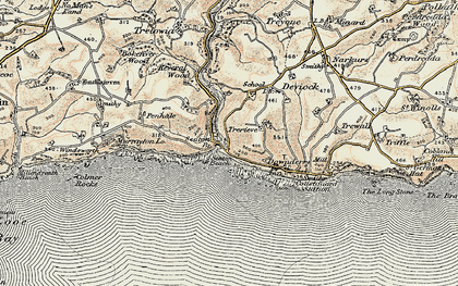 Old map of Seaton in 1900