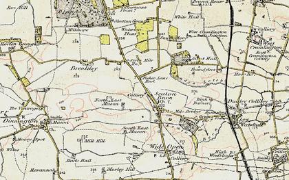 Old map of Seaton Burn in 1901-1903