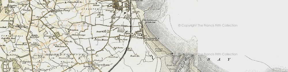 Old map of Seaton Carew in 1903-1904