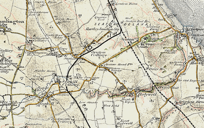 Old map of Seaton Delaval in 1901-1903