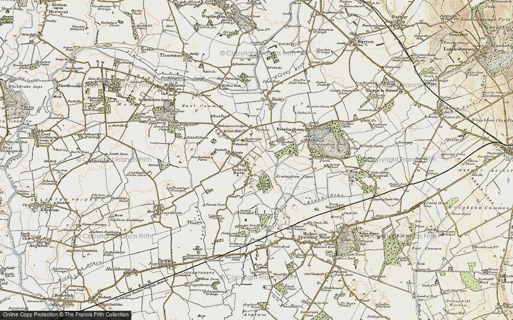 Old Map of Seaton Ross, 1903 in 1903