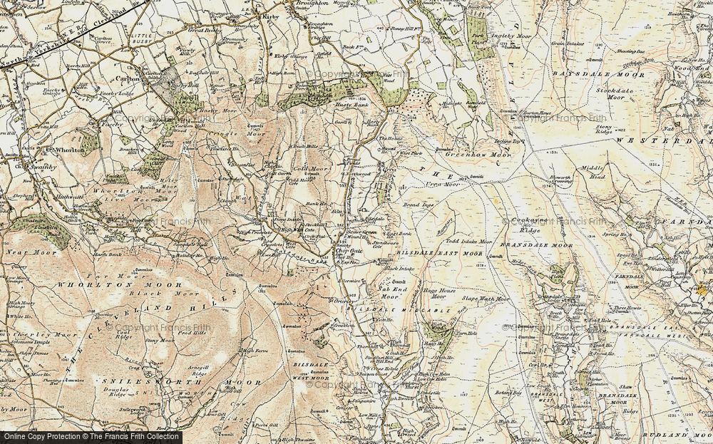 Old Map of Historic Map covering Akitt in 1903-1904