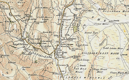 Old map of Whingroves in 1903-1904