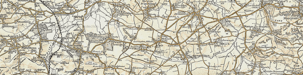 Old map of Seavington St Michael in 1898-1900