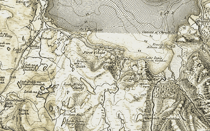 Old map of Leac Innis nan Gobhar in 1908-1910