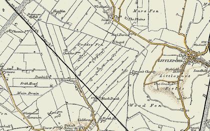 Old map of Westmoor Fen in 1901