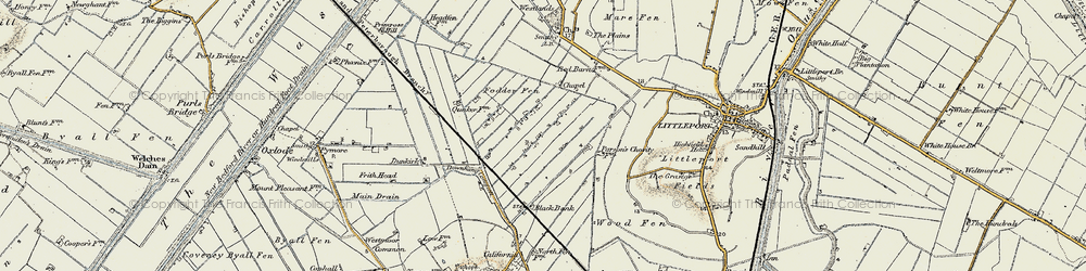 Old map of Westlands in 1901