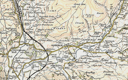 Old map of Sedbergh in 1903-1904