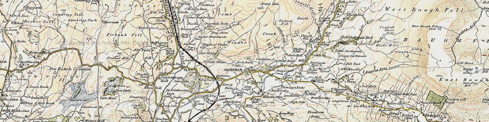 Old map of Winder in 1903-1904