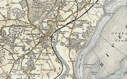 Old map of Badams Court in 1899