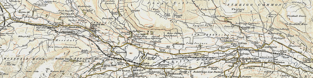 Old map of West Side in 1903-1904