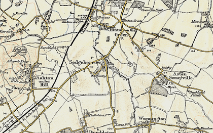 Old map of Sedgeberrow in 1899-1901