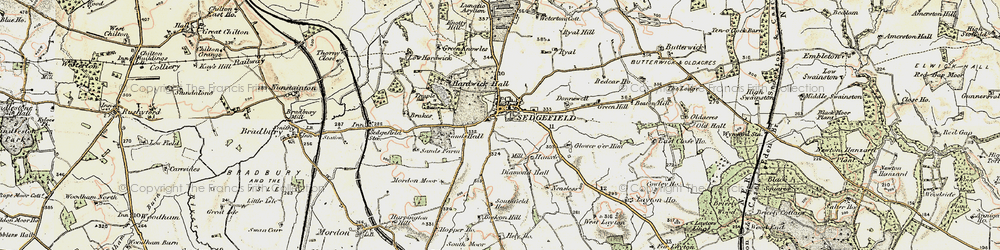Old map of Sedgefield in 1903-1904