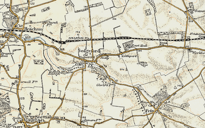 Old map of Sedgeford in 1901-1902