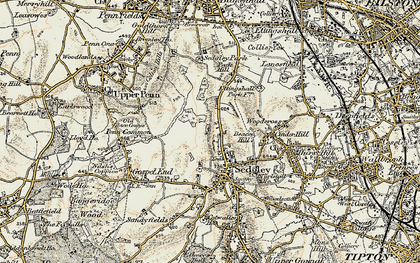 Old map of Sedgley in 1902