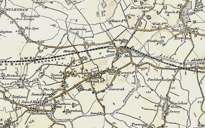 Old map of Seend in 1898-1899