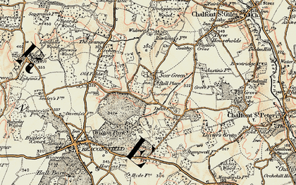 Old map of Seer Green in 1897-1898