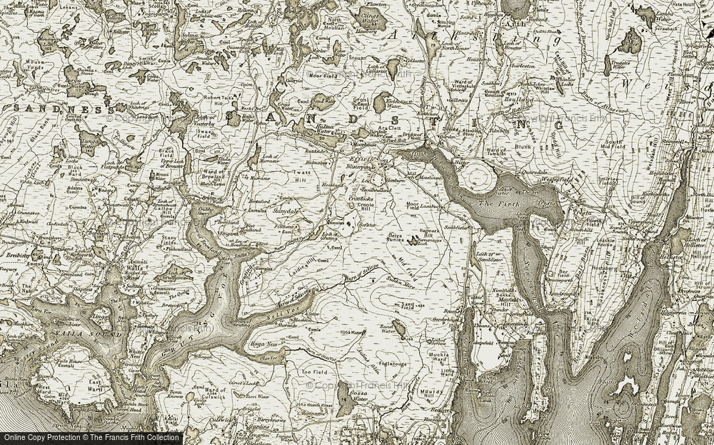 Old Map of Historic Map covering Lea in 1911-1912