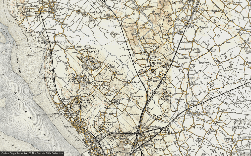 Old Map of Sefton, 1902-1903 in 1902-1903
