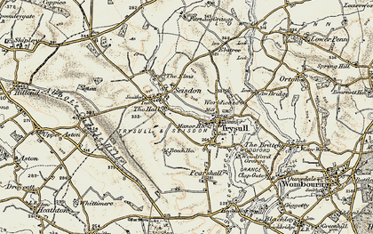 Old map of Seisdon in 1902