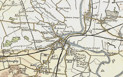 Old map of Selby in 1903