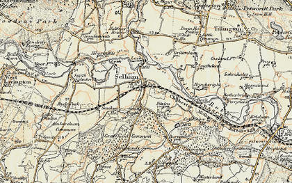 Old map of Selham in 1897-1900