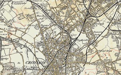 Old map of Selhurst in 1897-1902