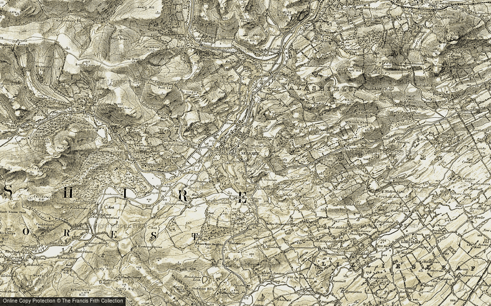 Old Map of Historic Map covering Bannerfield Ho in 1904