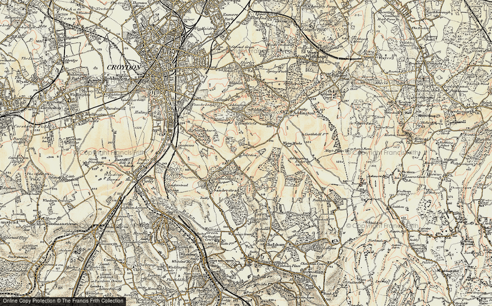 Old Map of Selsdon, 1897-1902 in 1897-1902