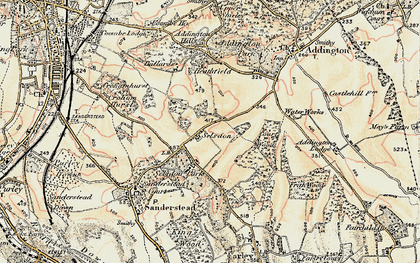 Old map of Selsdon in 1897-1902