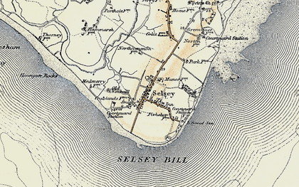 Old map of Selsey in 1898-1899