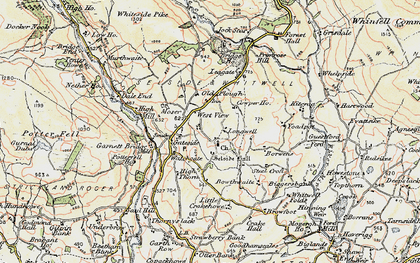 Old map of Leagate in 1903-1904