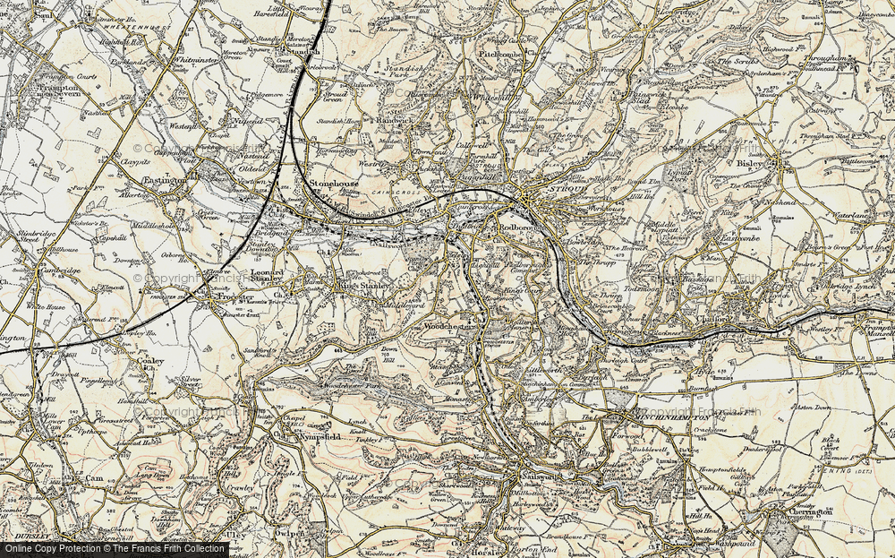 Old Map of Selsley, 1898-1900 in 1898-1900