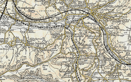 Old map of Selsley in 1898-1900