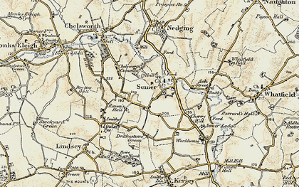 Old map of Semer in 1899-1901