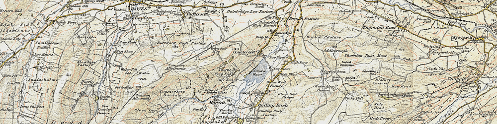 Old map of Wood End Lodge in 1903-1904