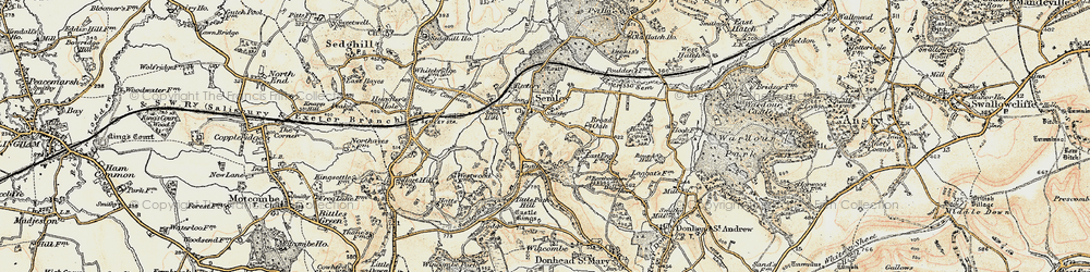 Old map of Tittle Path Hill in 1897-1899