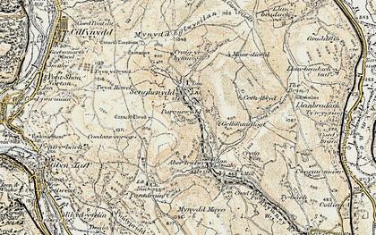 Old map of Senghenydd in 1899-1900