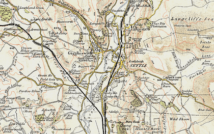Old map of Settle in 1903-1904