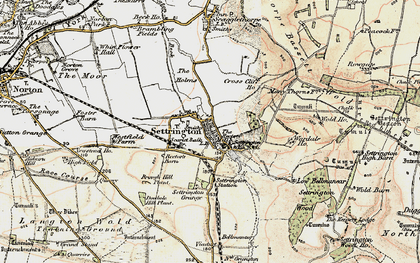 Old map of Wold Ho in 1903-1904