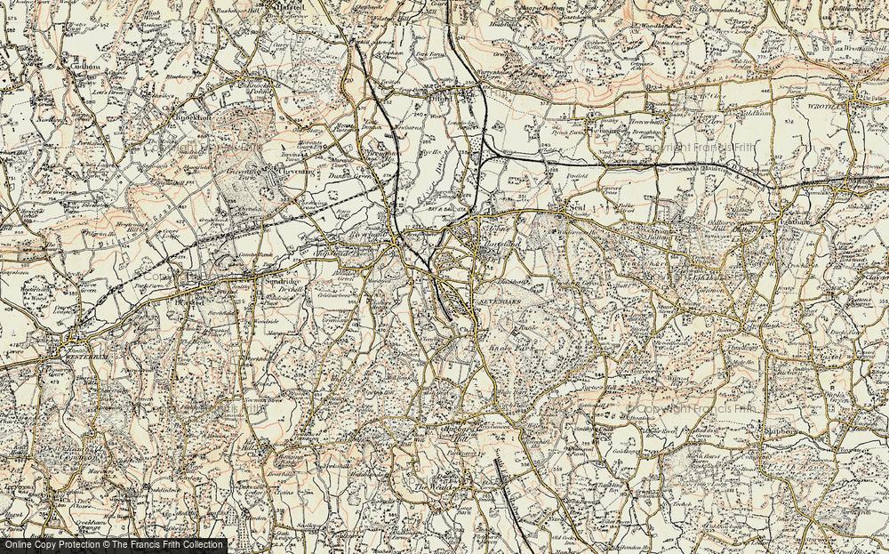 Map Of Sevenoaks Old Maps of Sevenoaks   Francis Frith