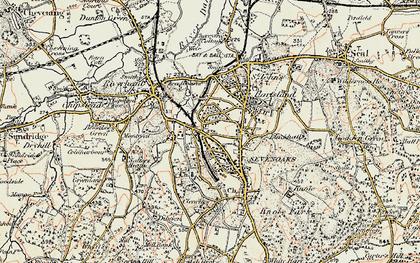 Old map of Sevenoaks in 1897-1898