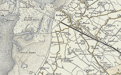 Old map of Severn Beach in 1899