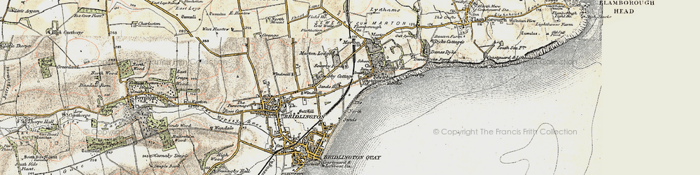 Old map of Sewerby in 1903-1904