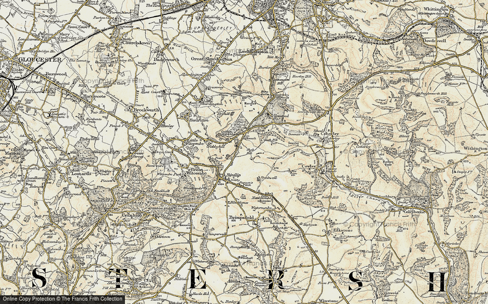 Old Map of Historic Map covering Air Balloon (PH) in 1898-1900